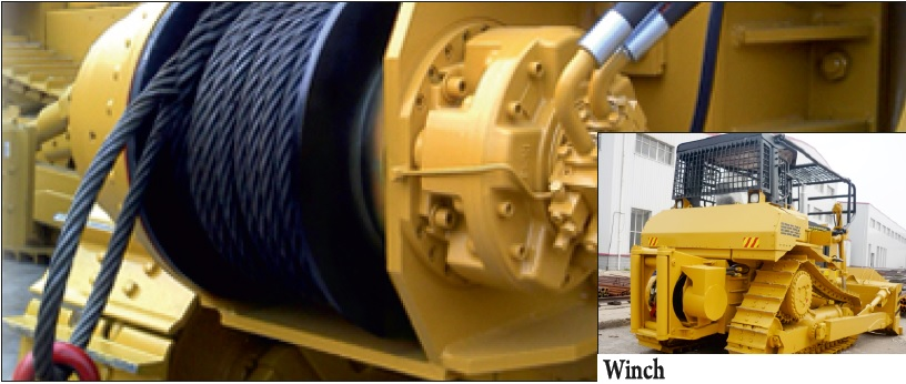Bulldozer Hydraulic winches